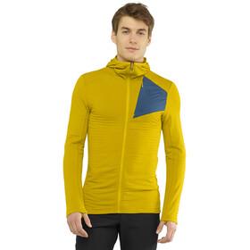 Salomon Outline Veste à capuche zippée Homme, lemon cur/dark denim